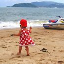 Young toddler on beach