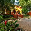 outside of hotel and gardens in merida