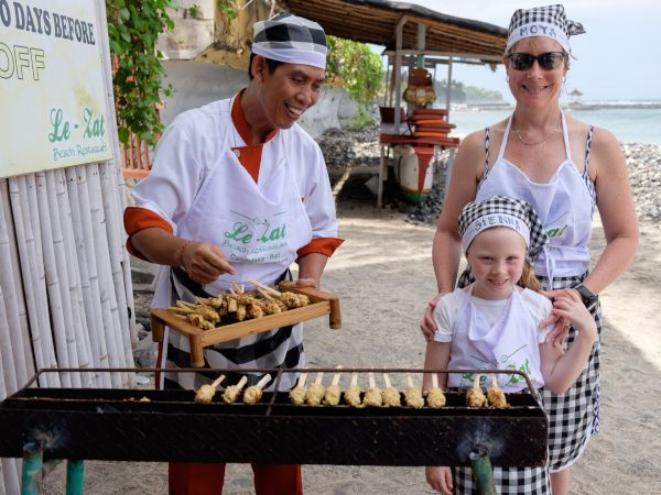 family cooking in indonesia