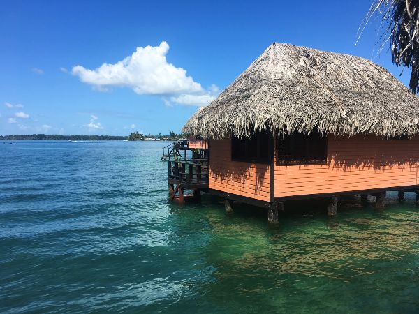 water bungalow on bocas del toro panama