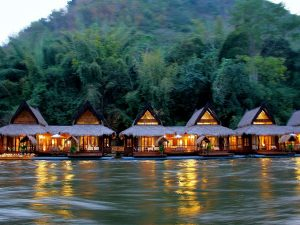 river kwai flaoting rafts accommodation in thailand