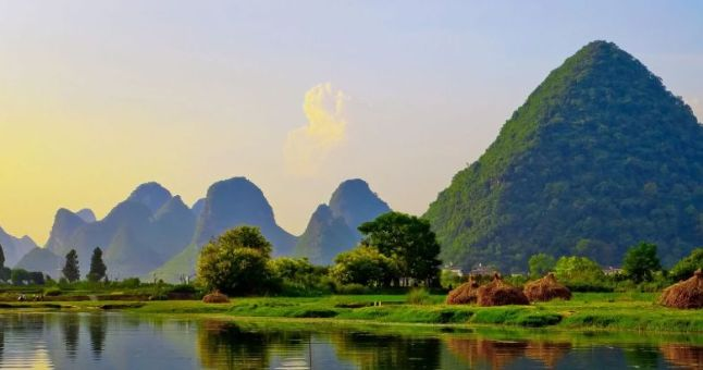 Yangshuo mountains of China