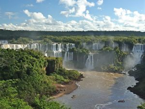Panoramic views of Iguacu Falls from Brazilian side
