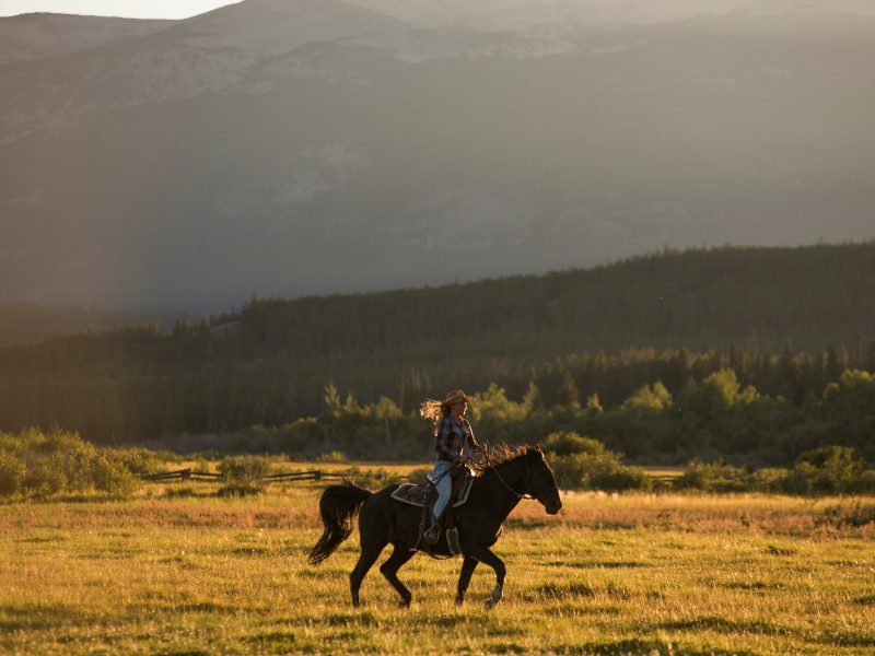 person horse riding at jesmond ranch, canada