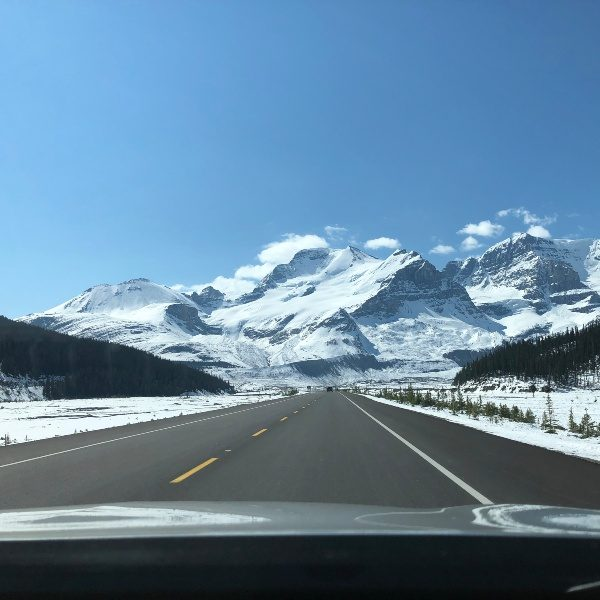 road to icey mountains