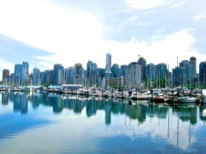 Tall buildings with body of water