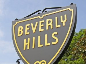 Sign reading beverly Hills