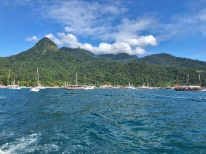 View of Ilha Grande from the sea