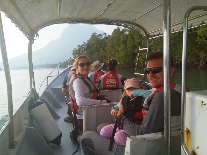 hazel and her family on a wildlife cruise