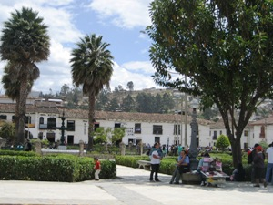 The plaza in Chachapoyas