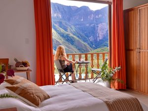Bedroom overlooking Gocta Falls