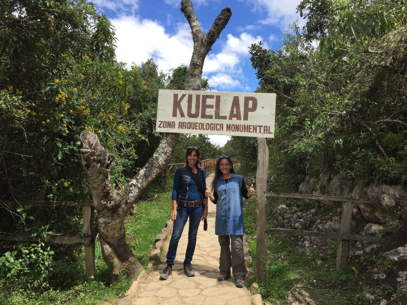 at the entrance of Kuelap