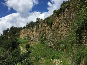 The walls of Kuelap fortress