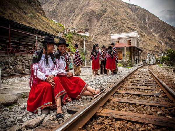locals waiting for train
