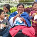 Local family relaxing in Otavalo, Ecuador