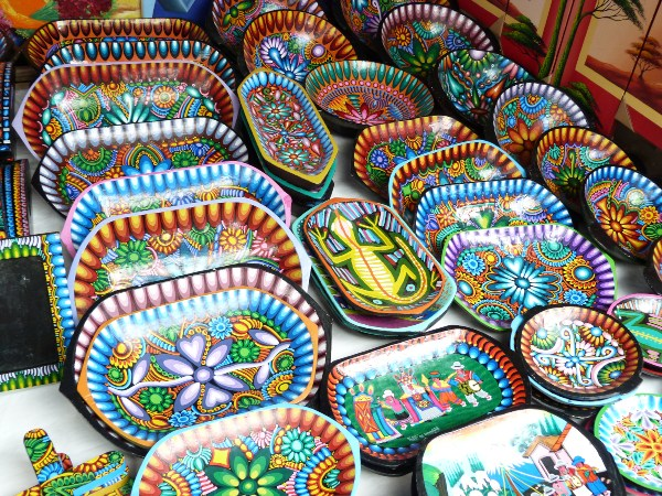 Local pottery in Otavalo market, Ecuador