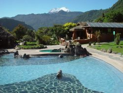 Pool at standard hotel in Papallacta, Ecuador