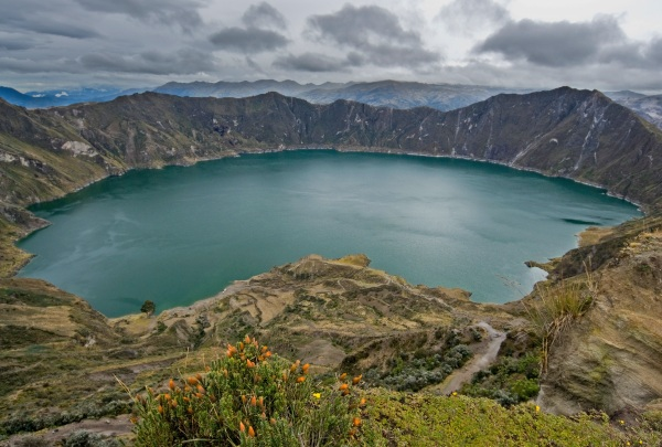Crater Lake in Quilotoa, Ecuador