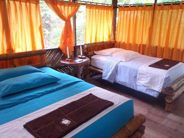 Bedroom in Amazon Lodge, Ecuador