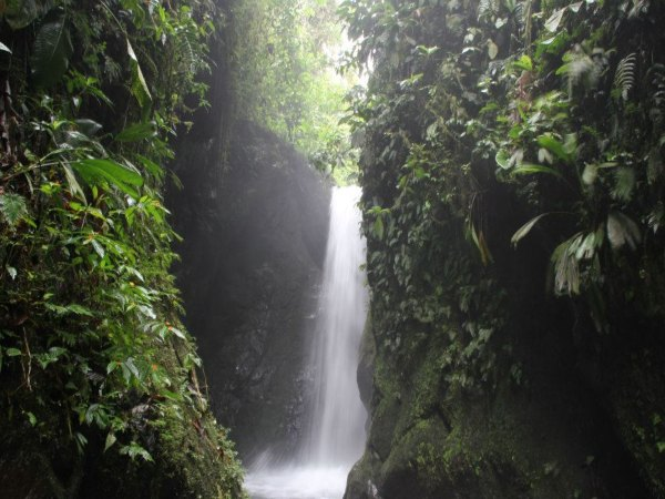 waterfall in ecuador mindo