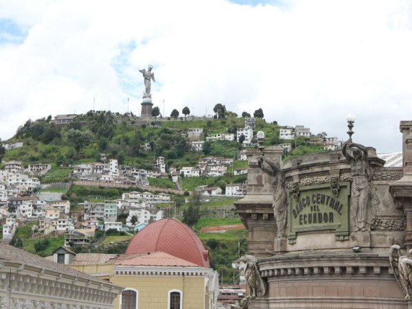 Quito angel statue view