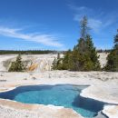 Yellowstone National Park geyser basin