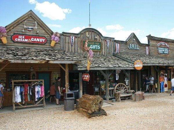 Shops in Bryce National Park, USA