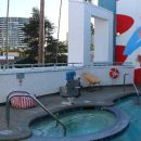 Outdoor pool at Los Angeles hotel