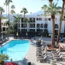 Swimming pool at Palm Springs hotel, USA