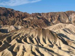 unusually shaped mountains in death valley