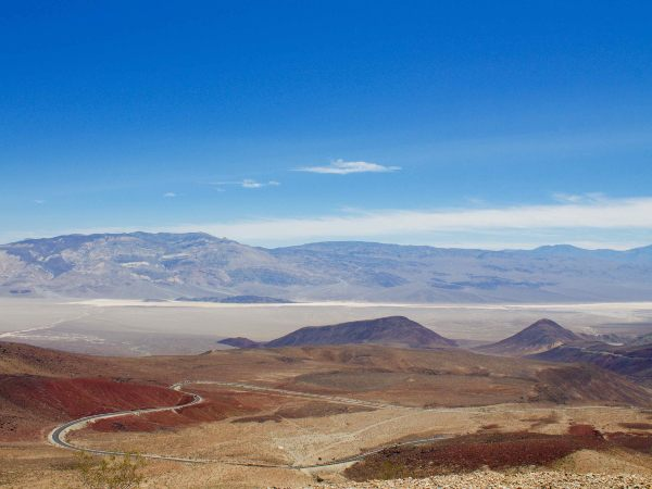 USA death valley landscape on a sunny day