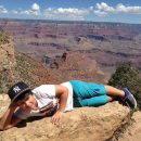 boy in grand canyon