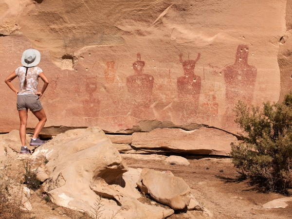 Indian rock art in Vernal National Park, USA
