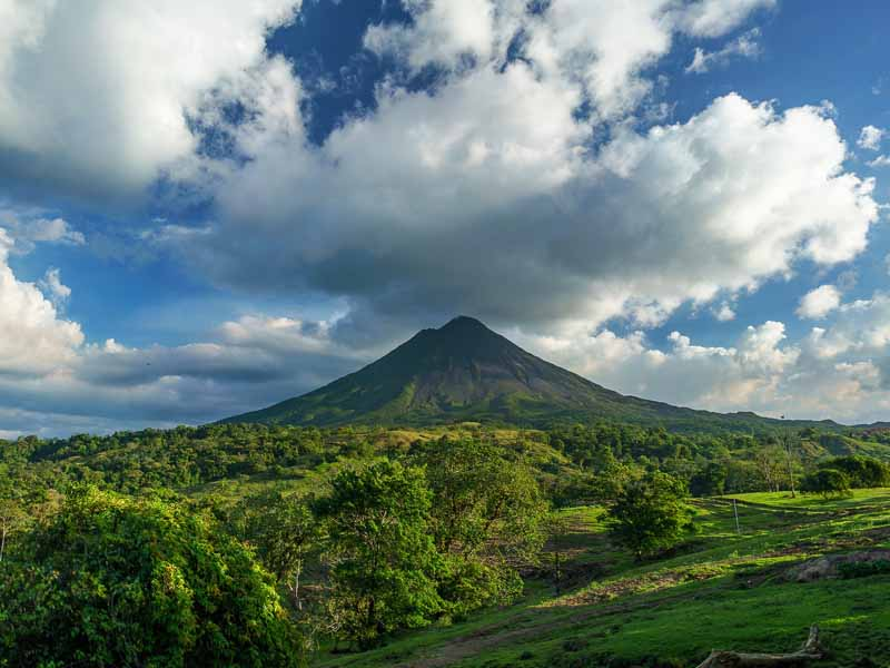 view of arenal volcano