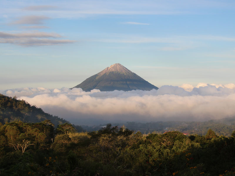 view of volcano in java