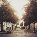 cobbled street in Colonia de Sacramento, by Amy Rollo