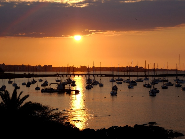the yacht club at sunset