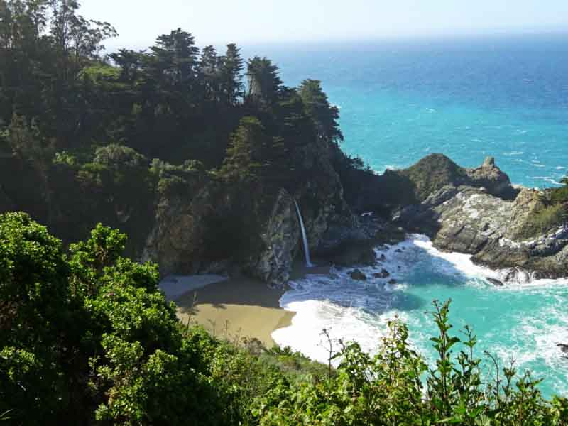 waterfall at big sur california