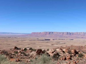 view of desert landscape at grand canyon