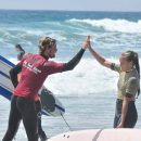 instructor giving a high five