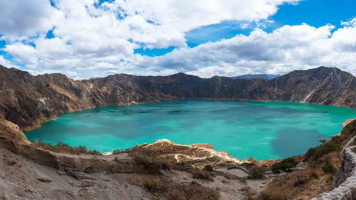 crater lake in Quilotoa