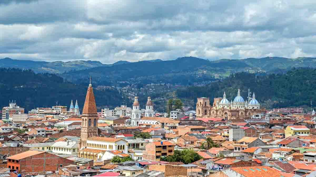 view of churches and buildings in cuenca