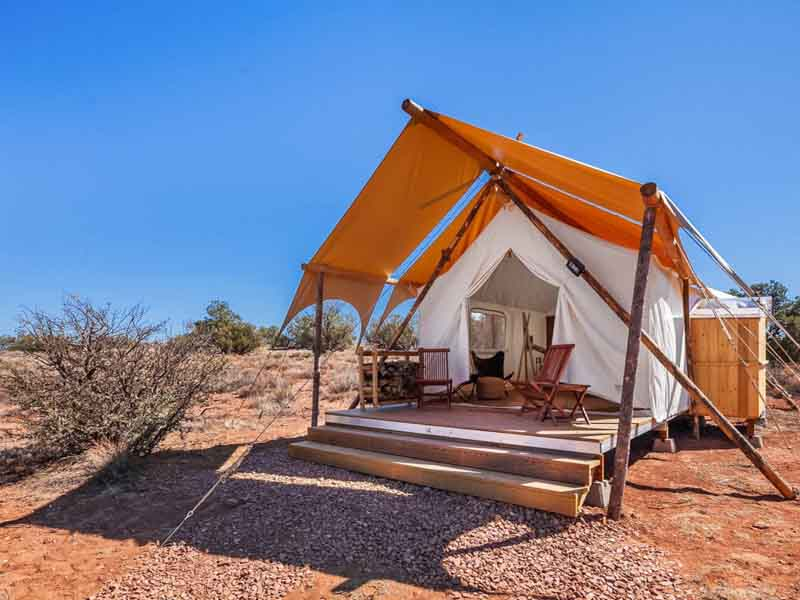 glamping tent near grand canyon