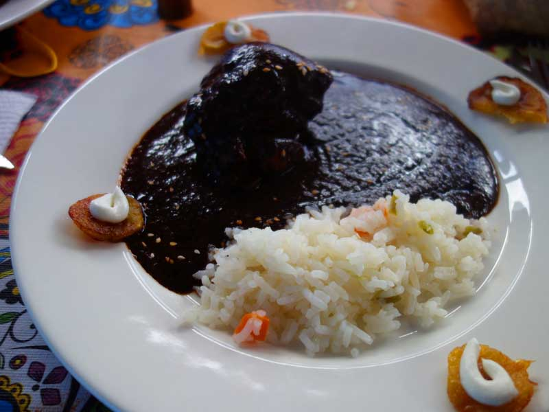 bowl of mexican mole