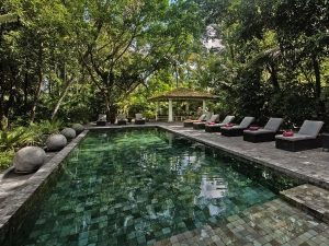 Pool at the special stay near Colombo