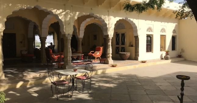 courtyard in an Indian fort