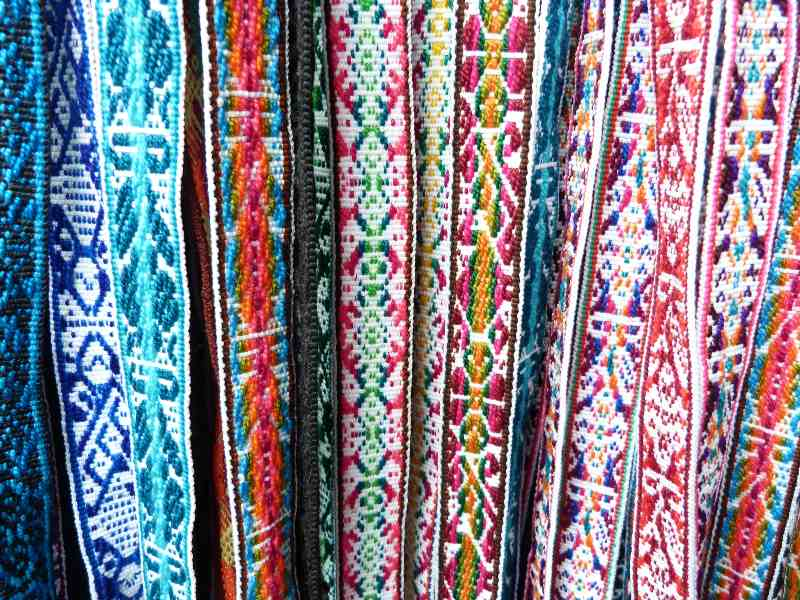colourful clothes on a street stall