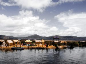 Floating isand on Lake Titicaca
