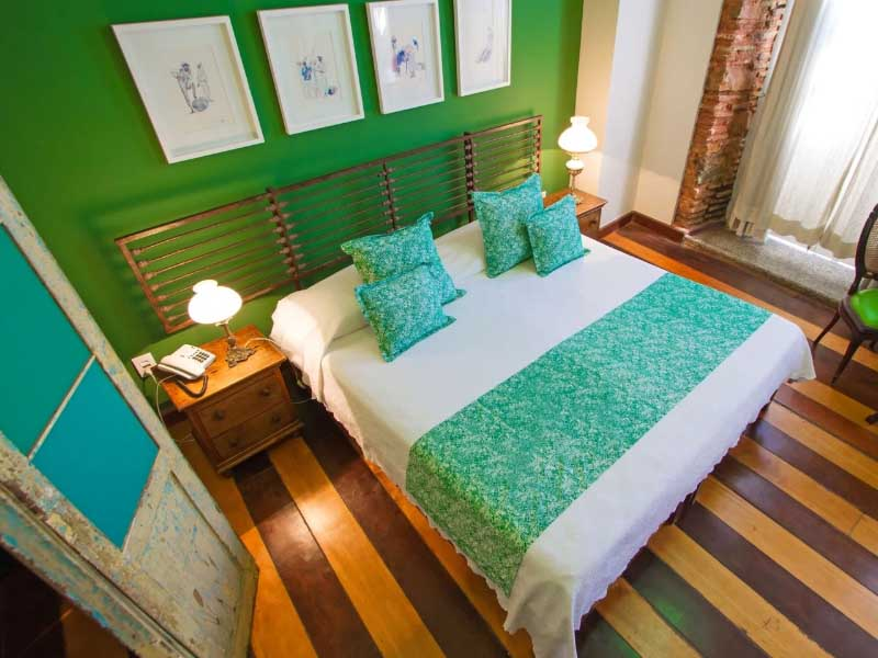 green decorated room in salvador brazil