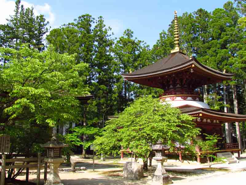 A temple in Koyasan